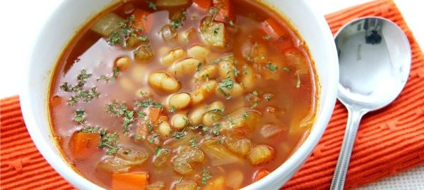 Фасолевый диетический суп
