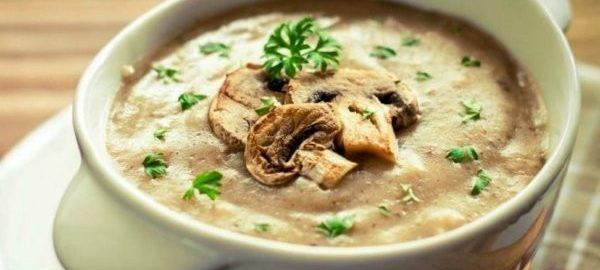 Грибной суп с творожным сыром