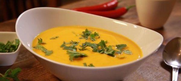 Суп из тыквы с кокосовым молоком