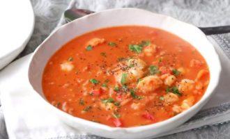 Бразильский суп с креветками