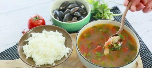 Суп из мидий и томатов