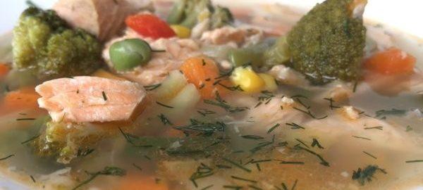 Овощной рыбный суп