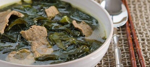 Миёккук корейский суп