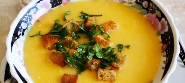Гороховый суп-пюре с зеленью