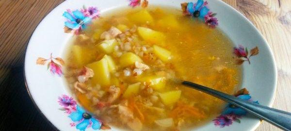 Гречневый суп с картошкой