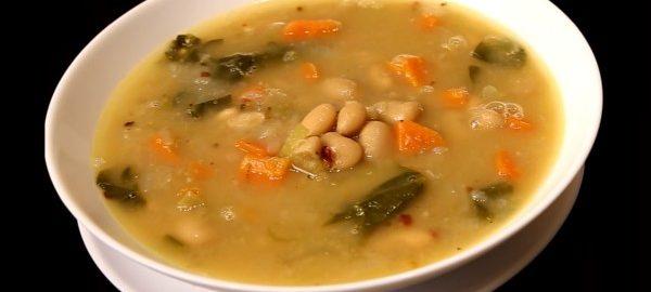 Суп с белой фасолью из банки