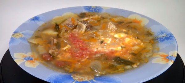 Капустный суп с говядиной