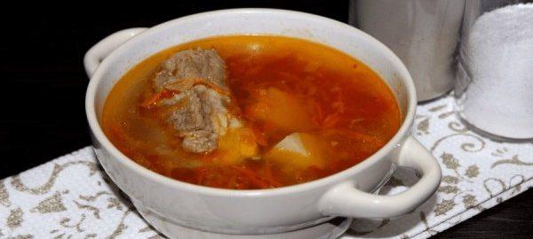 Суп из жирной свинины