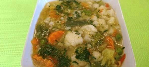 Суп из микса овощей