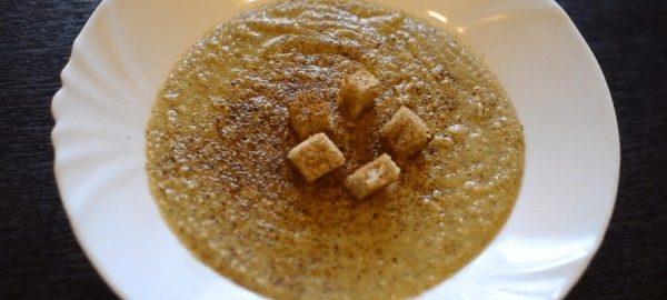 Суп-пюре из нута с гренками