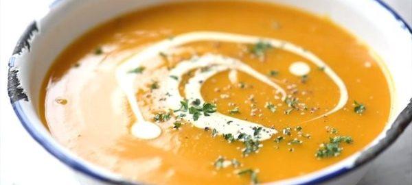 Крем суп из тыквы с тертым сыром