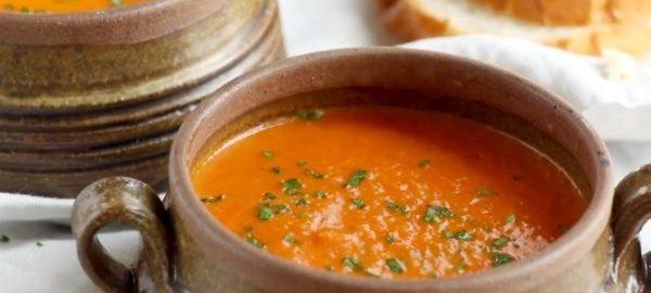 Томатный суп из консервированных помидоров