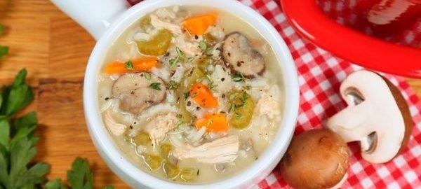 Суп из диетической индейки и риса