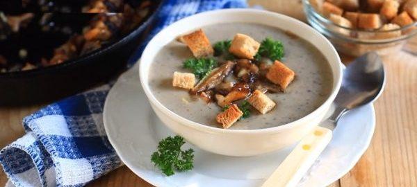 Крем суп из опят