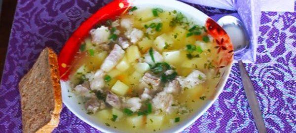 Мясной суп с картошкой
