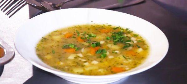 Суп гороховый с кальмаром