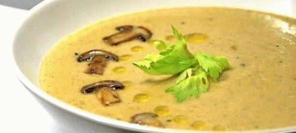 Крем-суп из грибов и курицы