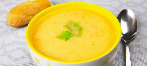 Морковный крем-суп с курицей
