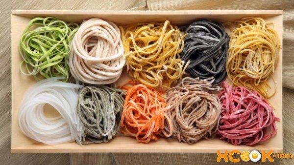 Макароны разных цветов