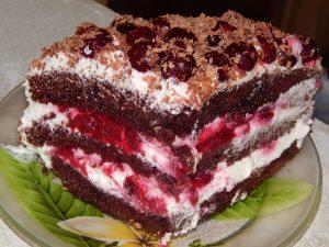 Аппетитный кусок пирожного