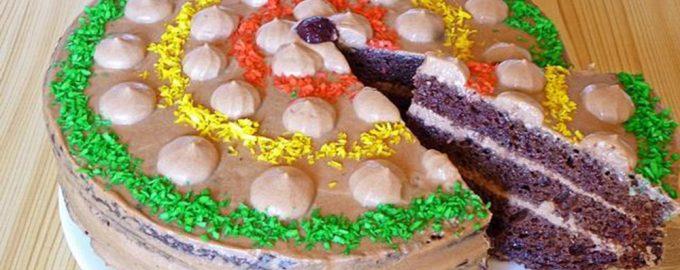 Нарезаем тортик