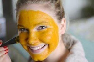 Оранжевая маска для лица