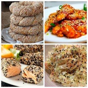 Подборка блюд с семенами сезама