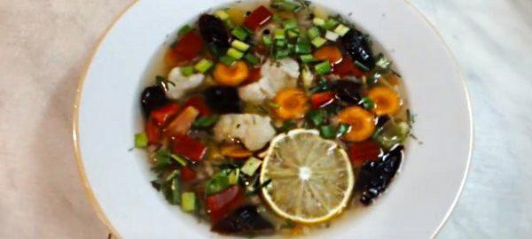 Диетический суп с имбирем