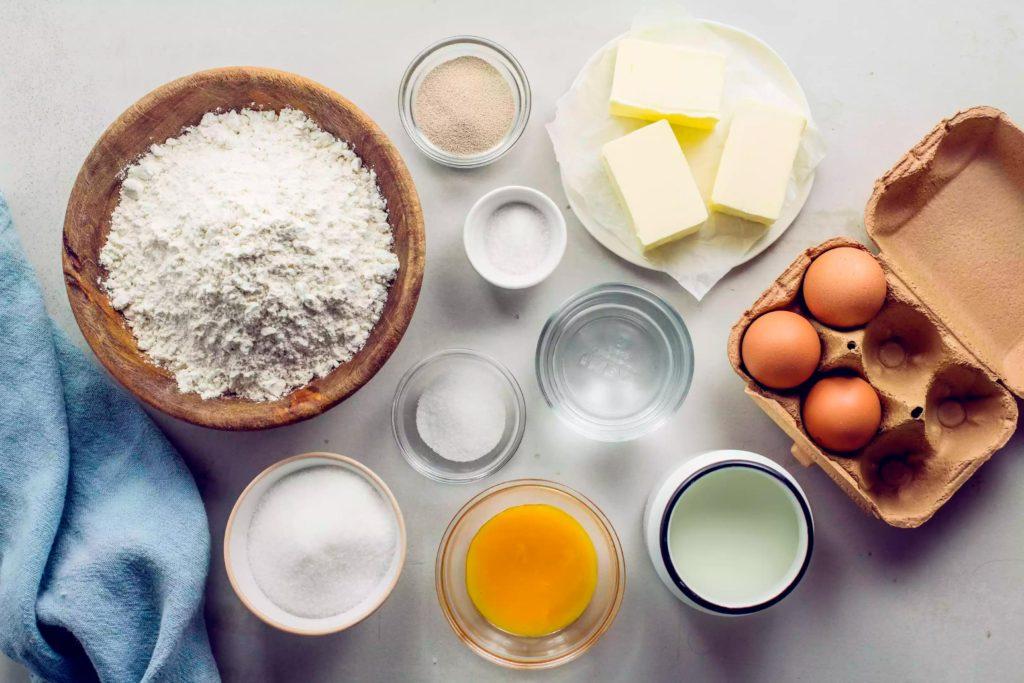 Ингредиенты для пасхального хлеба