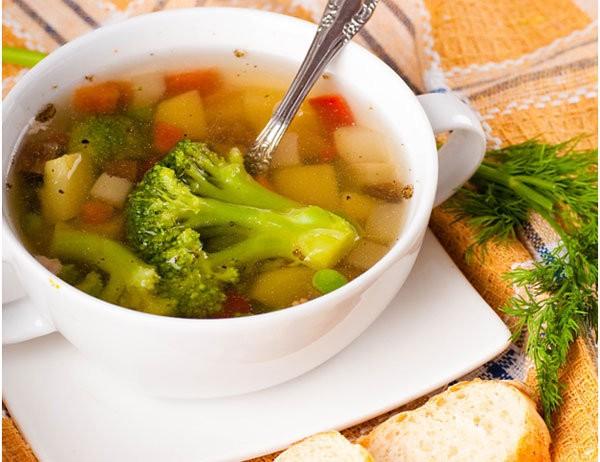 Суп с фасолью и брокколи