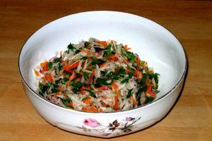 Салат с редькой и болгарским перцем