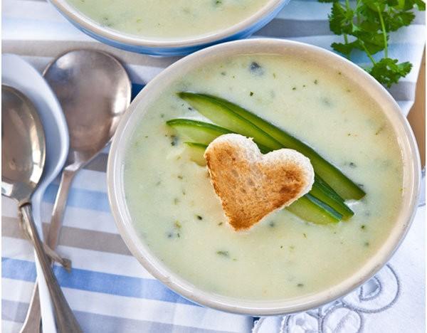 Крем суп из огурца