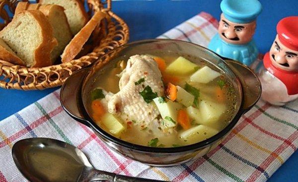 Суп из крыльев курицы