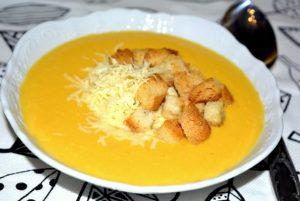 Сырный суп с тыквой
